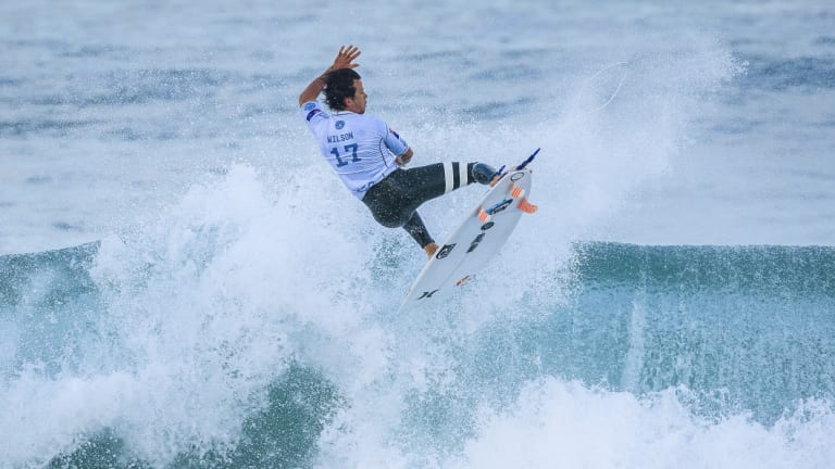 Still hope: Julian Wilson in action during this week's event in Portugal.