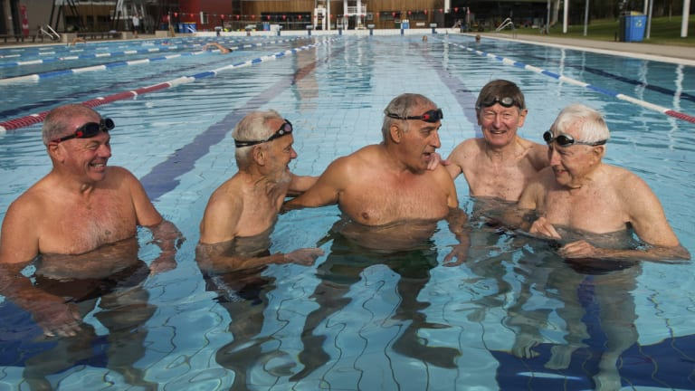 Swimming is now the choice of physical exercise for these men.
