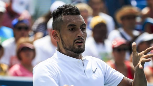 Kyrgios forgets shoes, wins in Cincinnati - as does Barty