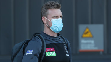 Nathan Buckley, head coach of Magpies  arrives in Perth on July 11.