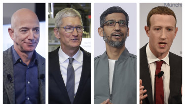 Amazon CEO Jeff Bezos, Apple CEO Tim Cook, Google CEO Sundar Pichai and Facebook's Mark Zuckerberg should be praying for a Trump victory.