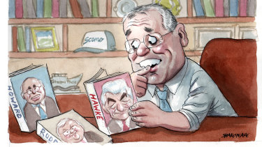 A Prime Minister with role models. Illustration: John Shakespeare
