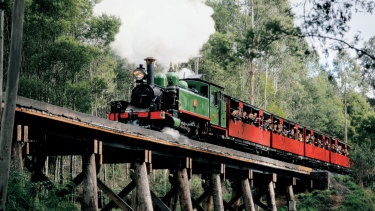 Puffing Billy is one of Victoria's most popular tourist attractions.