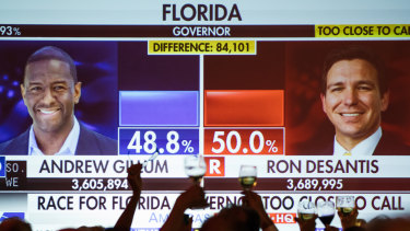 The Florida gubernatorial race remains to close to call and a recount is underway.