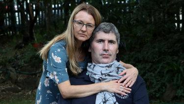 Professor Justin Yerbury and his wife Rachel on Monday.