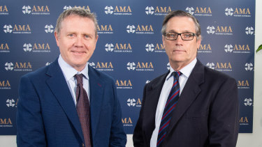 AMA WA president Andrew Miller and ANF state secretary Mark Olson.