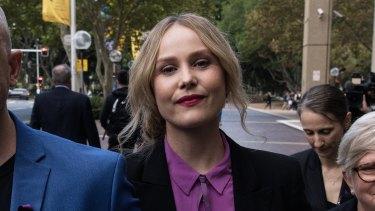 Eryn Jean Norvill leaves court in April.
