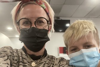 Aly Jolly and her 11-year-old son Johnny were at Melbourne Airport on Thursday morning, heading back to Sydney while they could.