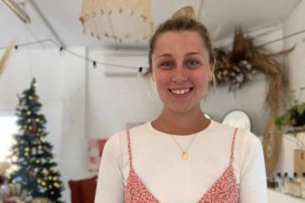 Lottie McCutcheon, owner of The Studio at Trangie, a hybrid cafe-art-studio-boutique in central-western NSW.