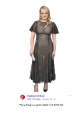 Elisabeth Moss, copping criticism for her dress at the Critics' Choice Awards in January.