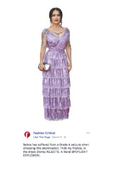 Fashion Critical on a gown worn by Salma Hayek at March's Academy Awards.