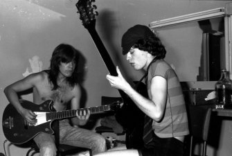 The Young brothers, Malcolm and Angus, at the start of their careers.