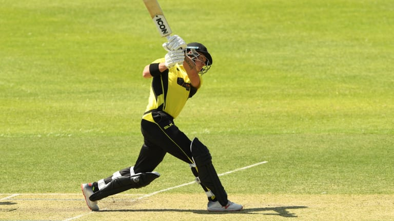 D'Arcy Short on the way to a double century in the domestic one-day series.