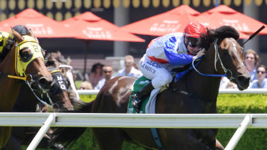 Linda Meech rides Garry Kirkup's Smart As to victory at Randwick on Saturday.