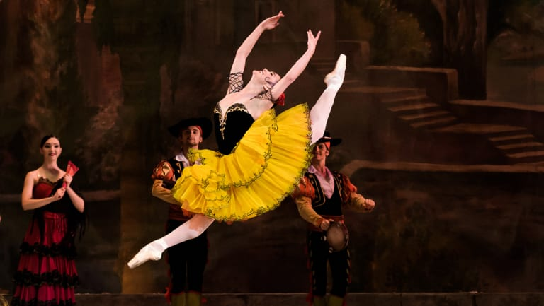 Adiarys Almeida Santana, seen here as Kitri in <i>Don Quixote'</i>, is one of the soloists.