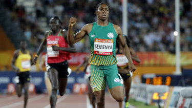 Caster Semenya wins Commonwealth Games gold on the Gold Coast last year.