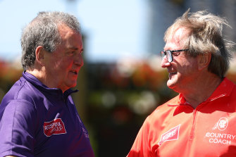 Denis Pagan and Kevin Sheedy will coach the city and country jockey teams respectively at Friday's Rapid Racing meeting at Flemington.