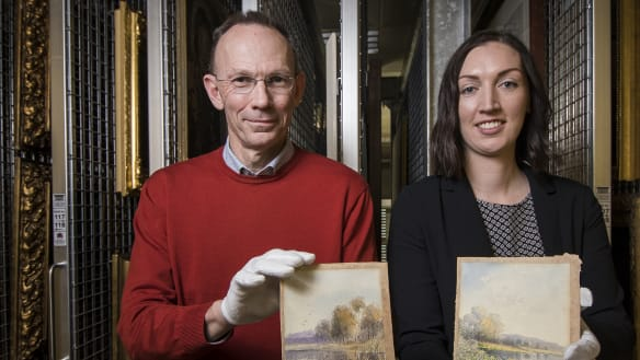 Two paintings found in an op shop were actually national treasures