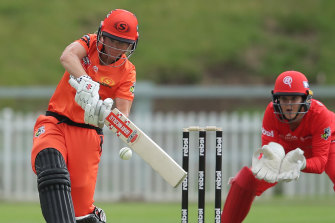 Beth Mooney was unbeaten in Perth's revised win against the Renegades.