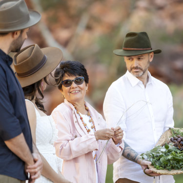 Filming MasterChef in the Northern Territory with bushfood expert Rayleen Brown.