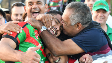 Family man: Cody Walker will have plenty of support at Suncorp Stadium next month.