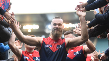 Max Gawn was targeted by the Dockers but it was all smiles as the Dees came away with the win.