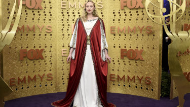 Christie's regal look for the Emmy's garnered her religious comparisons from fans.