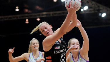 Seasoned professional: Magpies shooter Caitlin Thwaites has come a long way since her $50-per-game days.