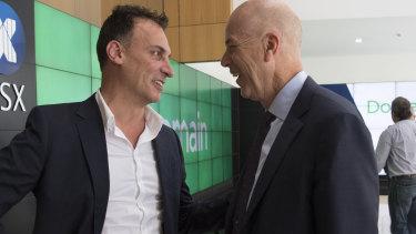 Antony Catalano with former Fairfax CEO Greg Hywood.