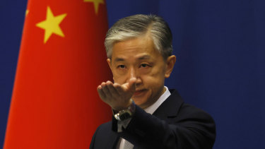 China's Foreign Ministry spokesman Wang Wenbin.