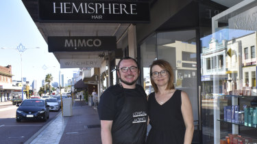 Hemisphere Hair co-owners Jenny Mammoliti and Damien Kabay say business is going great for them.
