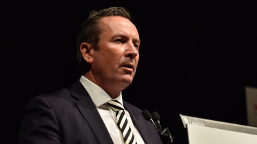 WA Premier Mark McGowan speaks at the CEDA State of the State address.