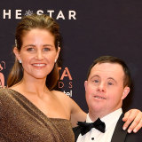 Jockey Michelle Payne and brother Stevie at the 2019 AACTA awards on Wednesday.