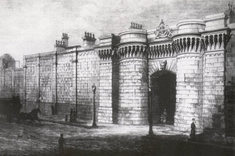 An illustration of Darlinghurst Gaol in the 1880s.