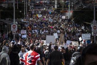 Saturday's protest.