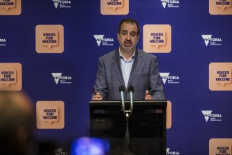 Industry Recovery Minister Martin Pakula details the pilot scheme on Sunday.