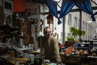 Shoemaker Brendan Dwyer has had a Nicholas Building studio for 28 years.