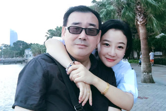 Australian writer Yang Hengjun, pictured with his wife Yuan Xiaoliang.