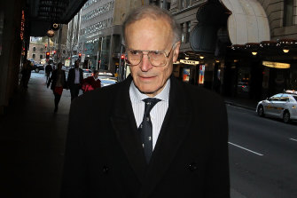 Former High Court justice Dyson Heydon.