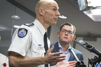 Emergency Management Commissioner Andrew Crisp and Premier Daniel Andrews, pictured last November.