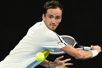 Daniil Medvedev had an easy jog around John Cain Arena tonight, winning in straight sets.