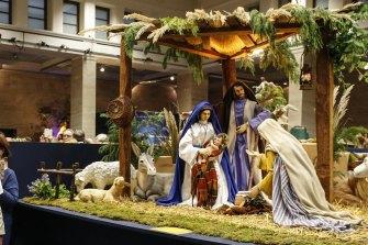 A nativity scene at the Vatican.