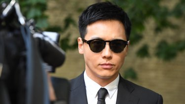 Chinese actor Yunxiang Gao arrives at the Sydney Central Local Court on Friday.