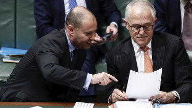 Josh Frydenberg and Malcolm Turnbull.