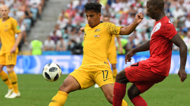 Star of the future: Socceroos' Daniel Arzani.