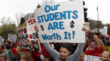 Teachers' pay has been linked to how well students perform.