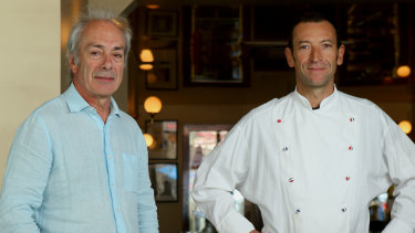 Jean-Paul Prunetti and Geraud Fabre from France-Soir.