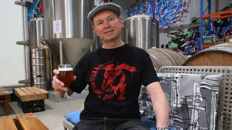 Bulli Brewing Co owner and brewer Michael Peloquin.