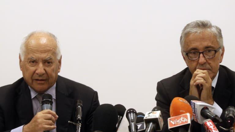Autostrade per L'Italia presiden, Fabio Cerchiai and CEO Giovanni Castellucci  speak on Saturday.,