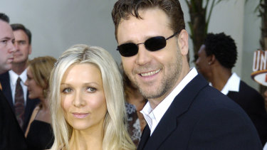 Danielle Spencer and Russell Crowe in happier times.